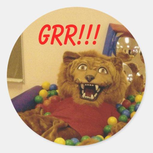 lance 1, GRR!!! Classic Round Sticker