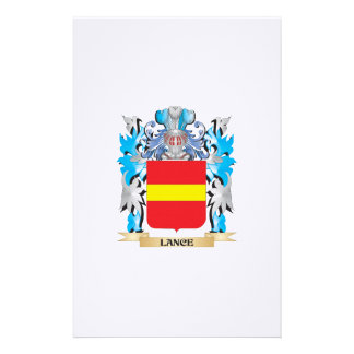 Lance Coat of Arms - Family Crest Customized Stationery
