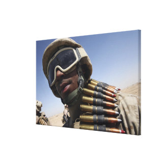 Lance Corporal waits for his turn Canvas Print