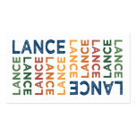 Lance Cute Colorful Business Cards