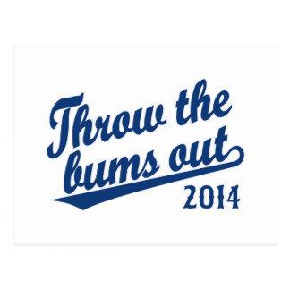 Lance el azul 2014 de los vagos hacia fuera postal