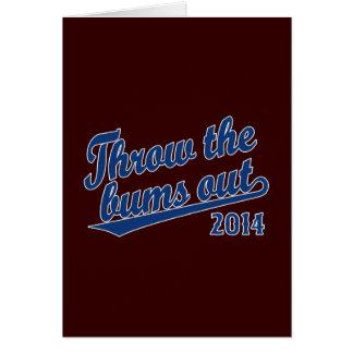 Lance el azul 2014 de los vagos hacia fuera tarjeta de felicitación