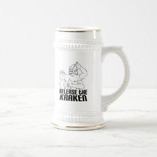 Lance el Kraken Jarra De Cerveza