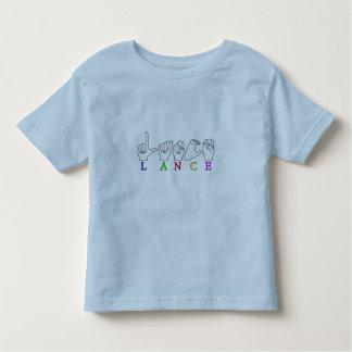 LANCE FINGERSPELLED ASL NAME SIGN MALE TSHIRTS