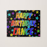"[ Thumbnail: ""Lance"" First Name, Fun ""Happy Birthday"" Jigsaw Puzzle ]"