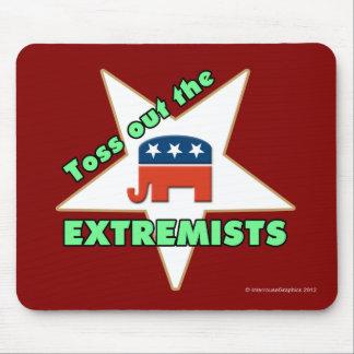 ¡Lance hacia fuera a los EXTREMISTAS republicanos! Alfombrilla De Ratón