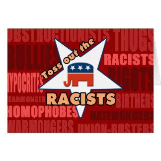 ¡Lance hacia fuera a los RACISTAS del GOP! Tarjeta De Felicitación