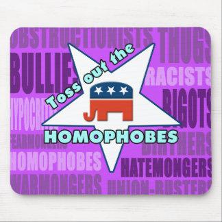 ¡Lance hacia fuera el GOP HOMOPHOBES! Alfombrillas De Raton