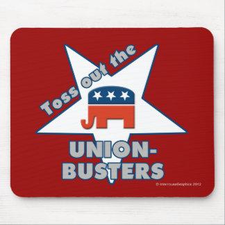 ¡Lance hacia fuera el GOP UNION-BUSTERS! Tapete De Ratón