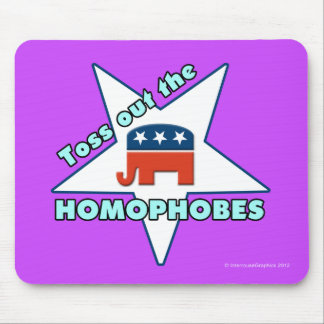 ¡Lance hacia fuera el Homophobes republicano! Tapetes De Ratón