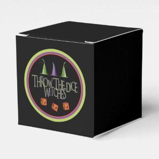 Lance la caja de Bunco de las brujas de los dados Cajas Para Regalos De Fiestas