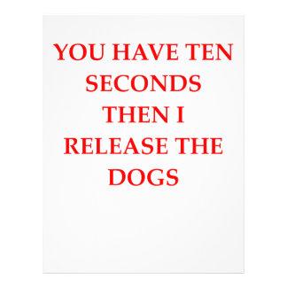lance los perros membrete a diseño