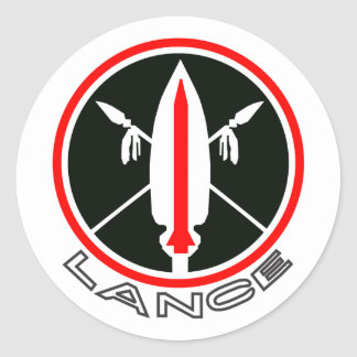 Lance Missile Classic Round Sticker