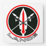 Lance missile wall clock