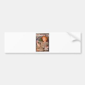 Lance parfum Rodo by Alphonse Mucha Bumper Sticker