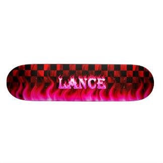 Lance pink fire Skatersollie skateboard