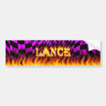 Lance real fire and flames bumper sticker design