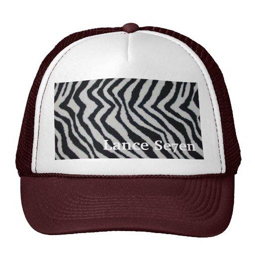 Lance Se7en Zebra print trucker Trucker Hats