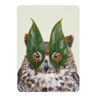 Lance the owl flat card
