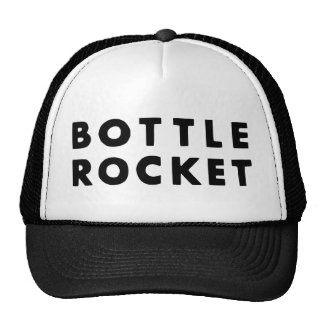 Lance una botella Rocket (el negro) Gorras