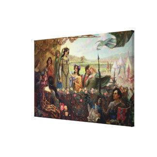 Lancelot and Guinevere Canvas Print
