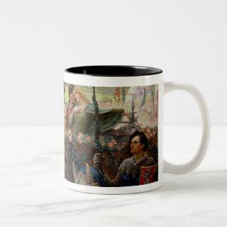 Lancelot and Guinevere Two-Tone Coffee Mug
