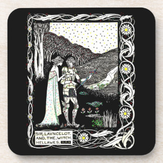Lancelot and Hellawes the Witch Beverage Coasters