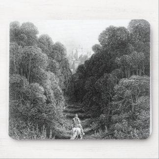 Lancelot approaches the Castle at Astolat Mouse Pad