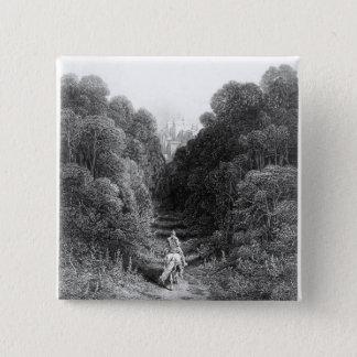 Lancelot approaches the Castle at Astolat Pinback Button