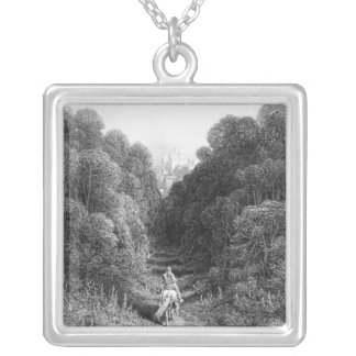 Lancelot approaches the Castle at Astolat Silver Plated Necklace