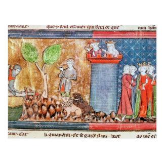 Lancelot proves his love postcard