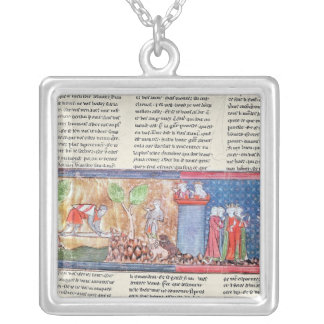 Lancelot proves his love silver plated necklace