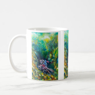 LANCELOT RIDING IN GREEN FOREST COFFEE MUG