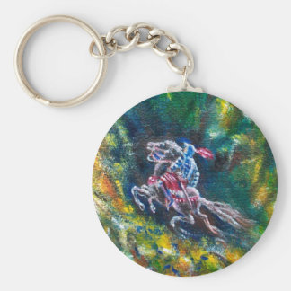 LANCELOT RIDING IN GREEN FOREST KEYCHAIN