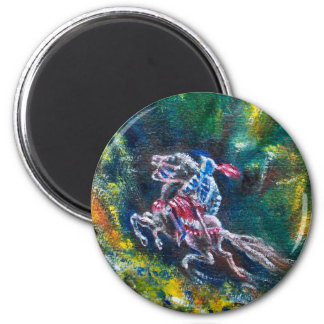 LANCELOT RIDING IN GREEN FOREST MAGNET