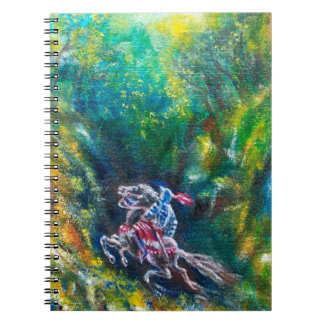 LANCELOT RIDING IN GREEN FOREST NOTE BOOK