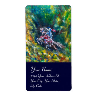 LANCELOT RIDING IN GREEN FOREST SHIPPING LABEL