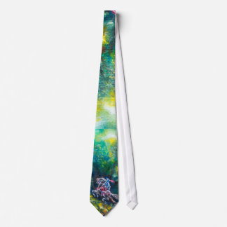 LANCELOT RIDING IN THE GREEN FOREST NECK TIE