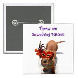 Lánceme algo botón del perro del señor Dachshund Pins