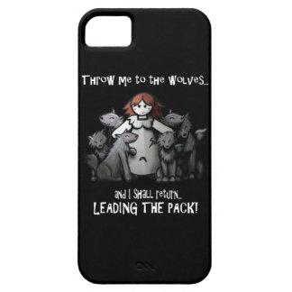 Lánceme los casos de los lobos iPhone 5 funda