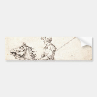 Lancer on Horseback by Albrecht Durer Bumper Sticker