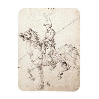 Lancer on Horseback by Albrecht Durer Magnet