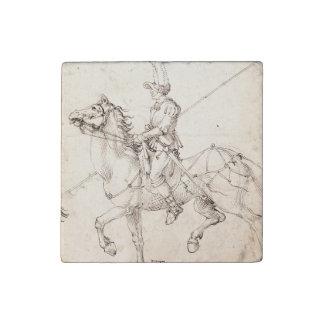 Lancer on Horseback by Albrecht Durer Stone Magnet