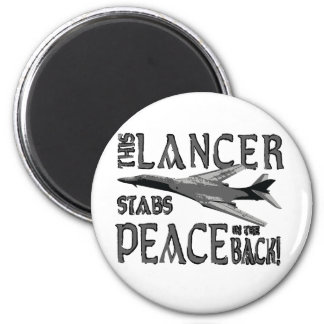 Lancer Stabs Peace in the Back 2 Inch Round Magnet