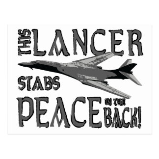 Lancer Stabs Peace in the Back Postcard