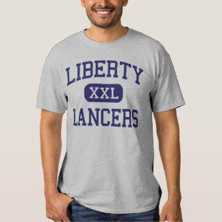 Lanceros Hutchinson medio Kansas de la libertad Playeras