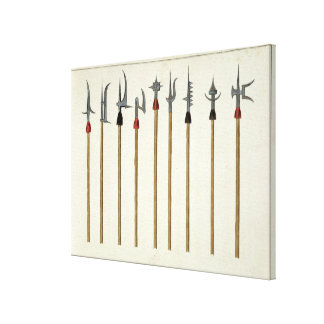 Lances, spears, halberds and partisanes, plate fro canvas print