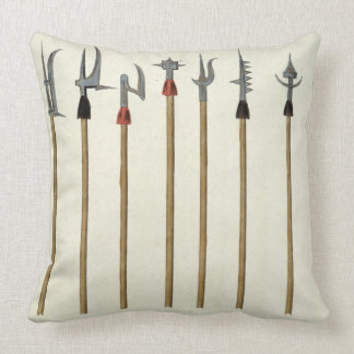 Lances, spears, halberds and partisanes, plate fro throw pillow