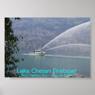 Lancha contraincendios de Chelan del lago Posters