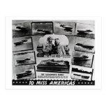 Lancha de carreras de madera del vintage del postales